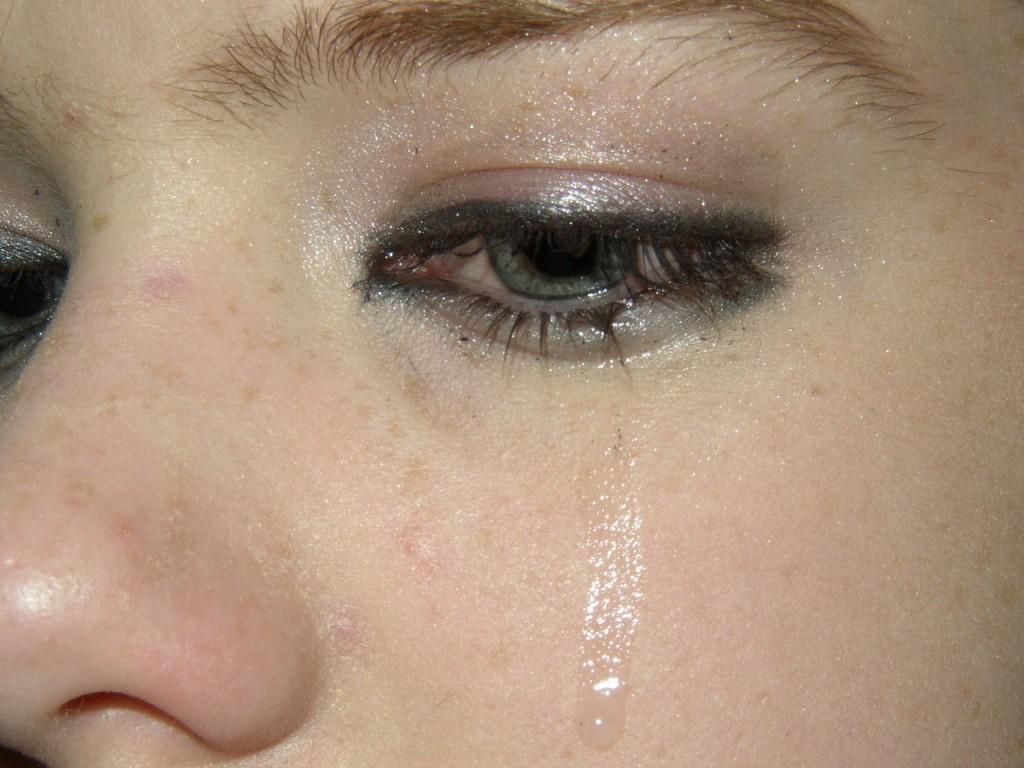 tear on cheek